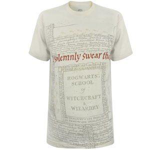 Harry Potter Marauder's Map T-Shirt Size Large